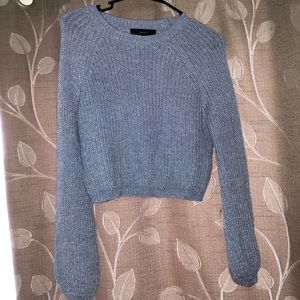 Cropped periwinkle sweater